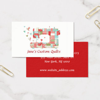 Quilter Sewing Machine Business Cards
