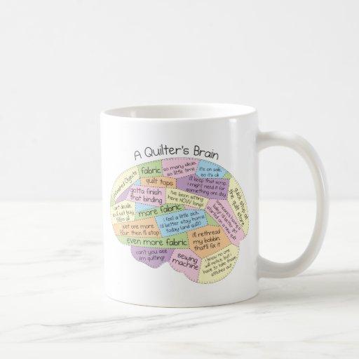 Quilter's Brain Coffee Mugs