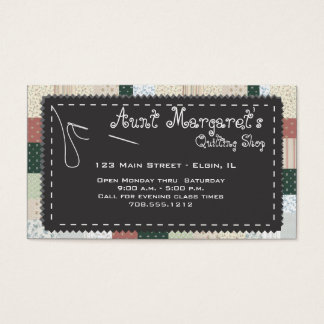 Quilter's Custom Business Card
