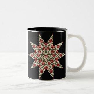 Quilter's Star Flower Mug