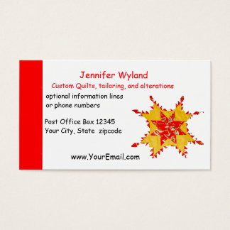 Quilting, Alterations, Crafts, Sewing Business Card