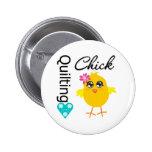 Quilting Chick 6 Cm Round Badge