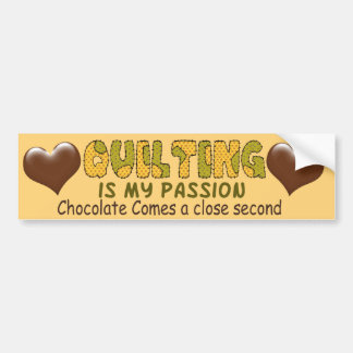 Quilting Passion Bumper Sticker
