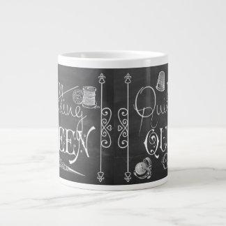 Quilting Queen chalkboard decor Jumbo Mug