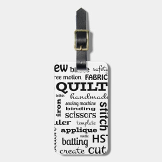 Quilting Subway Art Luggage Tag