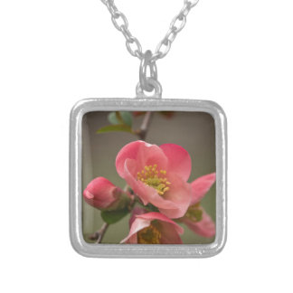 Quince Blossom Silver Plated Necklace