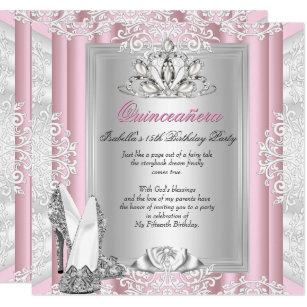 Quinceaera invitations zazzle quinceanera 15th birthday party light pink shoes invitation filmwisefo