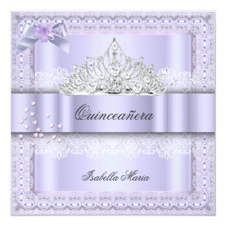 Quinceanera 15th Birthday Party Purple Lilac 2 Card