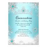 Quinceanera 15th Winter Wonderland Silver Blue 2 13 Cm X 18 Cm Invitation Card