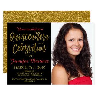 Quinceanera Celebration Photo Invitation