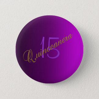 Quinceanera Club Button purple