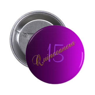 Quinceanera Club Button purple Buttons