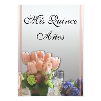 "Quinceanera Invitations in Spanish 5"" X 7"" Invitation Card"