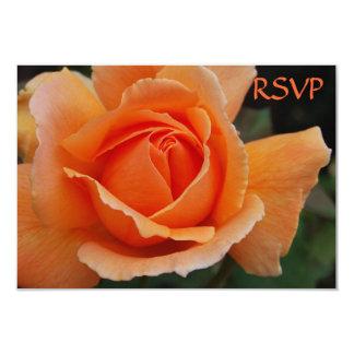 Quinceanera Invite RSVP Orange Roses