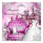 Quinceanera Masquerade Magical Princess Pink 13 Cm X 13 Cm Square Invitation Card