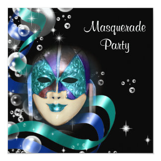 Quinceanera masquerade mask PERSONALIZE Card