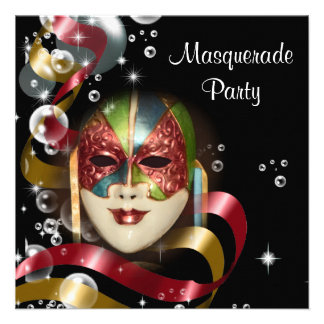 Quinceanera masquerade mask PERSONALIZE Custom Announcements