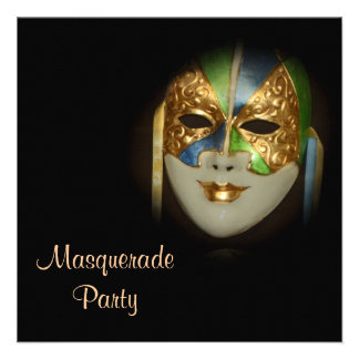 Quinceanera masquerade mask PERSONALIZE Announcements