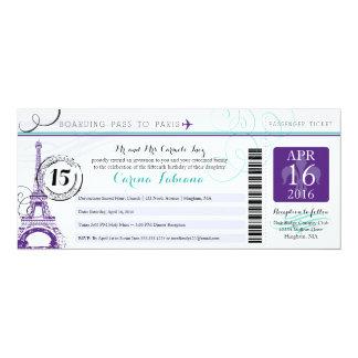 Quinceanera   Paris 10 Cm X 24 Cm Invitation Card