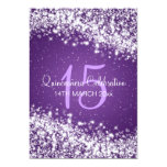 Quinceañera Party Sparkling Wave Purple 13 Cm X 18 Cm Invitation Card
