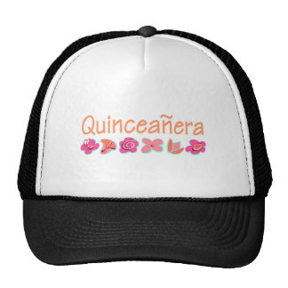 Quinceanera (peach color) trucker hat