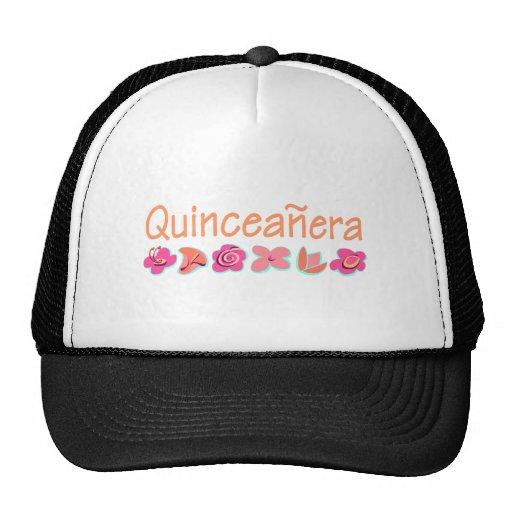 Quinceanera (peach color) trucker hat