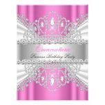 Quinceanera Princess Pink White Diamond Tiara