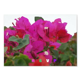 Quinceanera RSVP Bougainvillea 9 Cm X 13 Cm Invitation Card