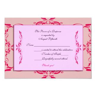 Quinceanera RSVP Card 9 Cm X 13 Cm Invitation Card