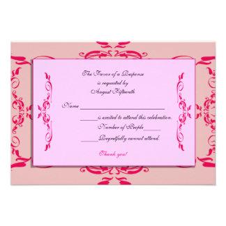 Quinceanera RSVP Card