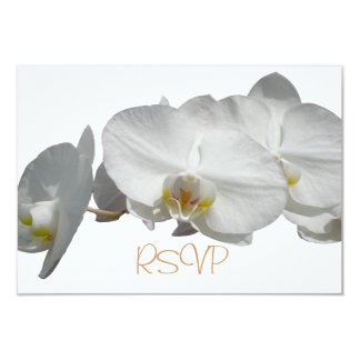 Quinceanera RSVP Guest Reply White Orchids 9 Cm X 13 Cm Invitation Card