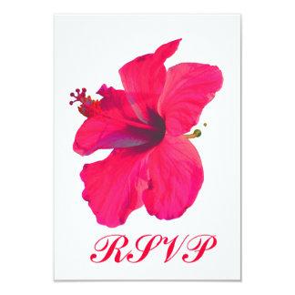 Quinceanera RSVP Pretty Pink Flower Card
