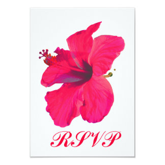 Quinceanera RSVP Pretty Pink Flower 9 Cm X 13 Cm Invitation Card