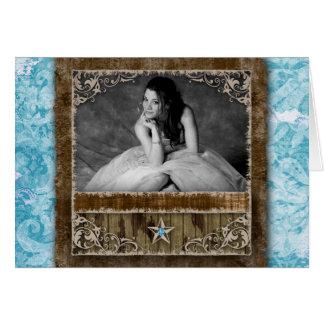 Quinceanera Sweet Sixteen Photo Invite Star