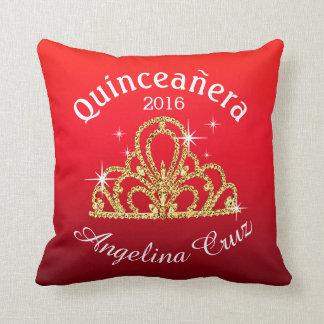 Quinceanera Tiara Bokeh Bling   ombre red Cushion