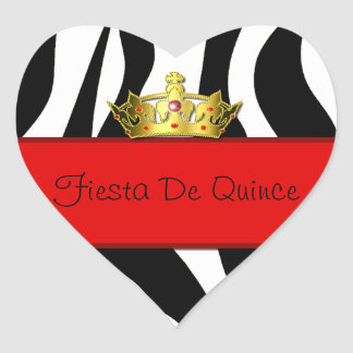 Quinceañera Zebra Print Sticker