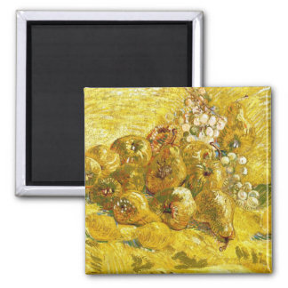 Quinces, Lemons, Pears and Grapes Vincent van Gogh Square Magnet
