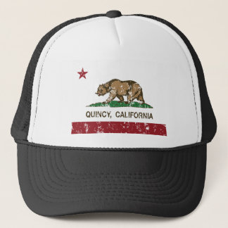 quincy california state flag trucker hat