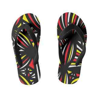 """""""Quine"""" Adult Flip Flops Yellow Red Thongs"""