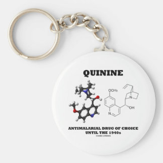 Quinine Antimalarial Drug Of Choice Until 1940s Basic Round Button Key Ring