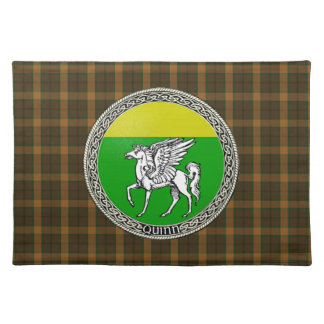 Quinn Family Badge with Tartan Placemat