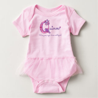Quinn girls name & meaning Q monogram shirt