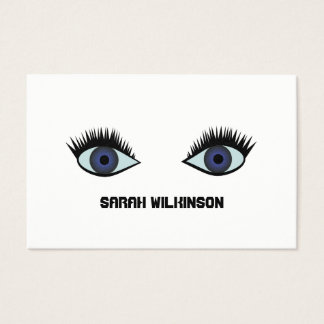 Quirky blue eyes business card
