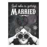 Quirky Chalkboard Steampunk Wedding Invitations