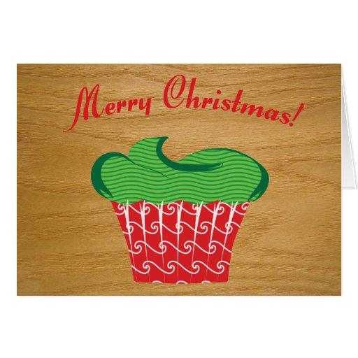Quirky Christmas Cupcake Christmas Card