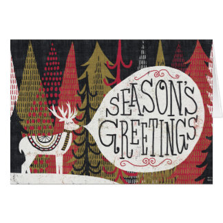 Quirky Christmas Deer Greeting Card