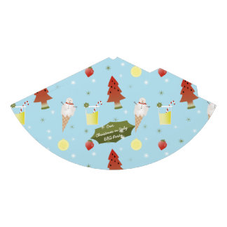 Quirky Christmas in July BBQ Party Paper Hat