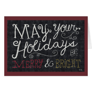 Quirky Christmas Merry and Bright Greeting Card
