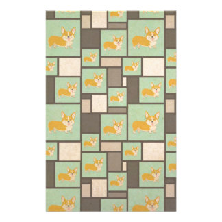 Quirky Corgi Kraft Present Gift Wrap Wrapping Stationery