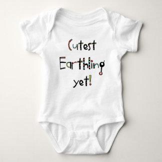 Quirky Cutest Earthling Yet! Vermilion Orange Baby Bodysuit